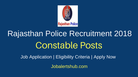 Rajasthan Police Constable Job Notification