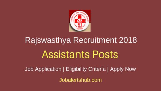 Rajswasthya Assistants Recruitment Notification