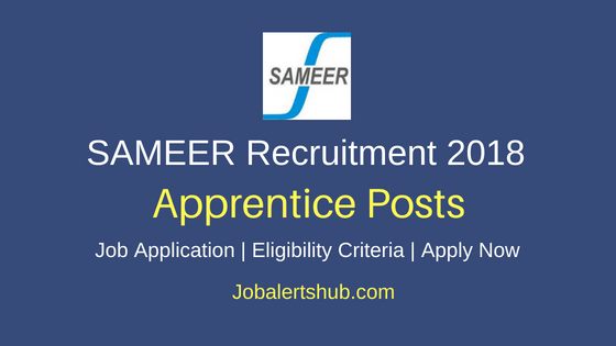 SAMEER ITI Trade Apprentice Posts
