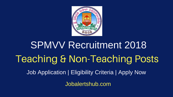 SPMVV Tirupati Teaching & Non-Teaching Recruitment