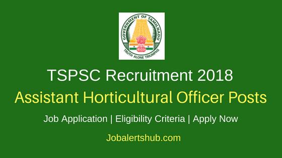 TNPSC Assistant Horticultural Officer Job Notification