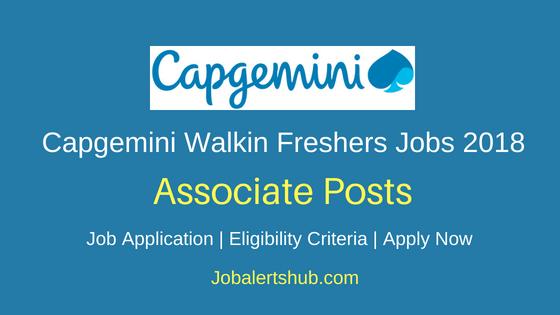 Capgemini Associate Freshers Jobs Notification
