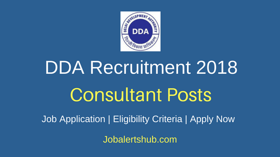 DDA Consultant Recruitment Notification