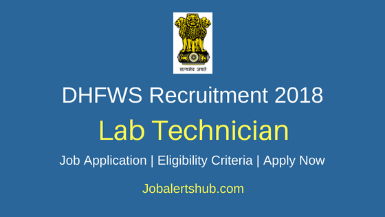 DHFWS South 24 Parganas Lab Technician Job Notification