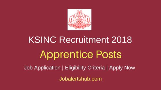 KSINC Apprentice Job Notification
