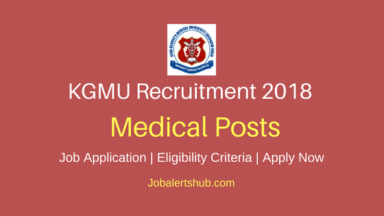 KGMU Lucknow Medical Posts Job Notification