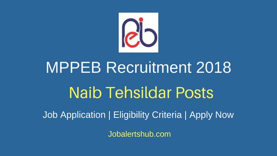MPPEB aib Tehsildar Job Notification