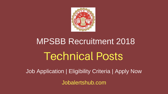 MPSBB Technical Posts Job Notification