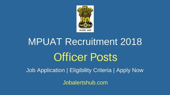 MPUAT Officer Job Notification