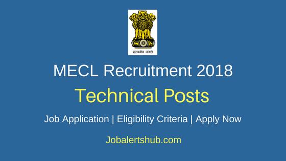MECL Technical Recruitment Notification