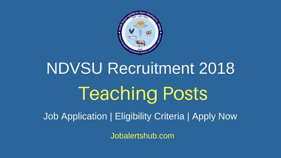 NDVSU Teaching Staff Job Notification