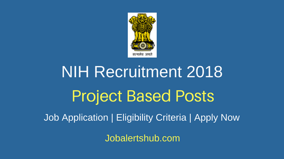 NIH Roorkee Project Staff Recruitment Notification