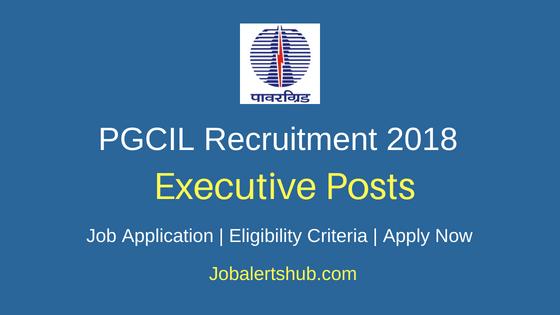 Power Grid Corporation of India Executive 2018 Job Notification