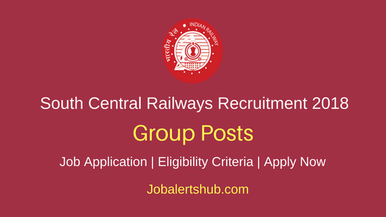 SCR Railways Group Posts Recruitment Notification
