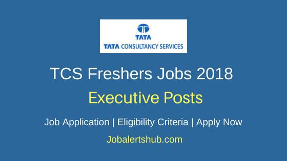 TCS Freshers Executive Jobs 2018