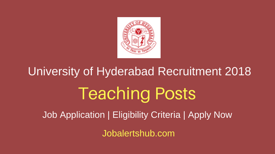 University of Hyderabad Guest Faculty Recruitment 2018 Notification