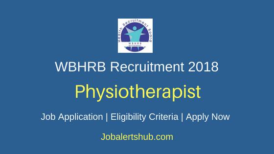 WBHRB Physiotherapist Job Notification