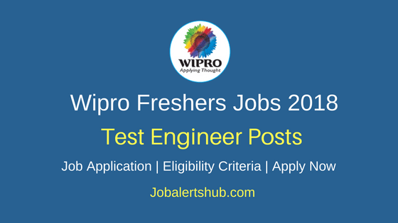 Wipro Freshers Test Engineer Jobs