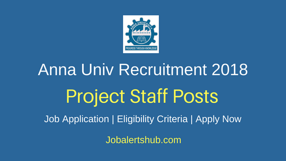 Anna University Project Staff Recruitment Notification