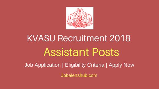 KVASU Assistant Job Notification
