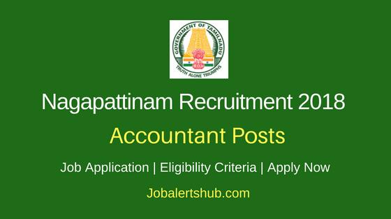 Nagapattinam District Accountant Job Notification