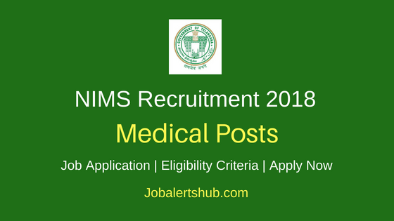 NIMS Hyd Medical Job Notification