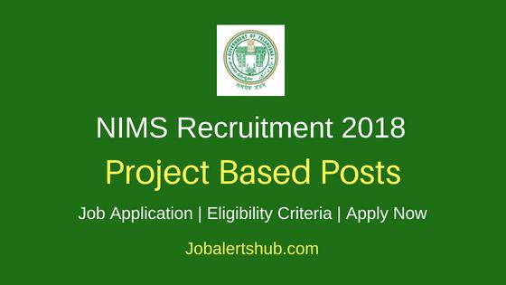 NIMS Hyd Project Based Job Notification