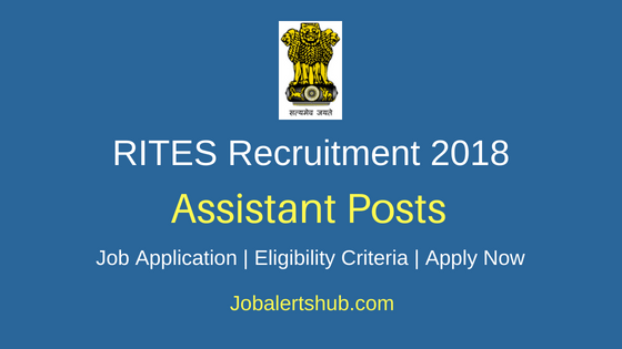 RITES Limited Assistant Recruitment Notification