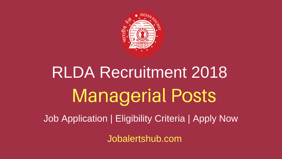 RLDA Managerial Job Notification
