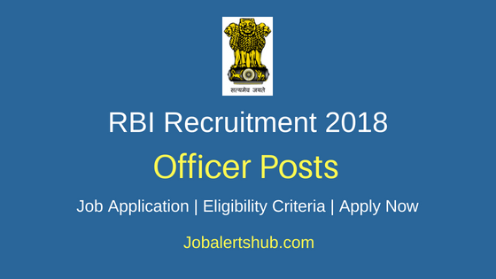 RBI Officer Grade Job Notification