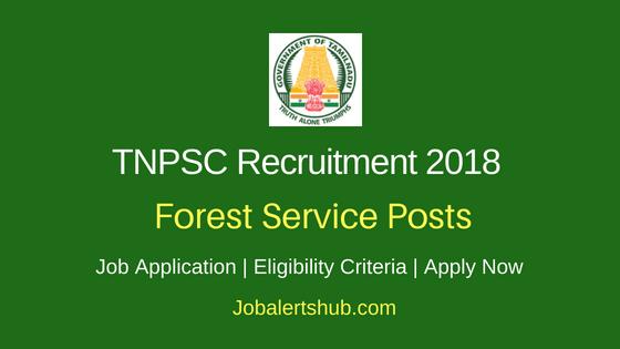 TNPSC Forest Service Job Notification