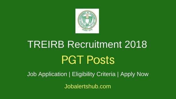 TREIRB Recruitment Post Graduate Teachers Job Notification