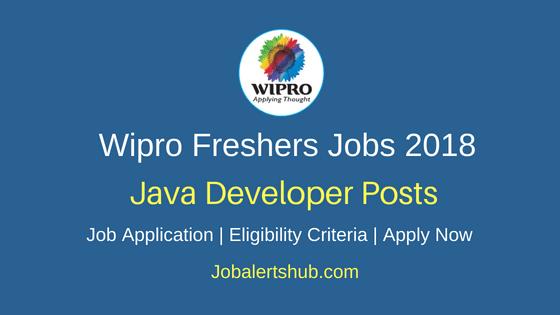 Wipro Java Developer Freshers Jobs