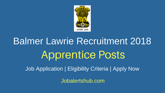 Balmer Lawrie Apprentice Job Notification