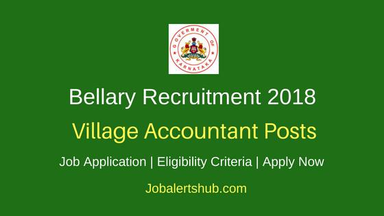 Bellary District Village Accountant Job Notification