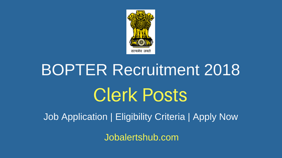 BOPTER Clerk Job Notification