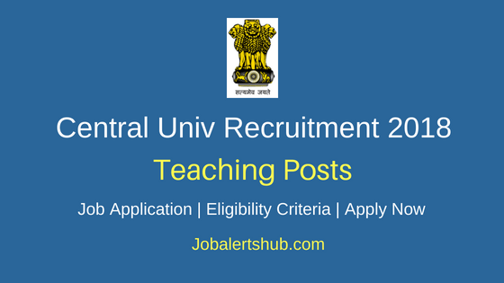 Central-University-Teaching-Staff-Recruitment-Notification