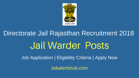 Directorate Jail Rajasthan Jail Warder Recruitment Notification