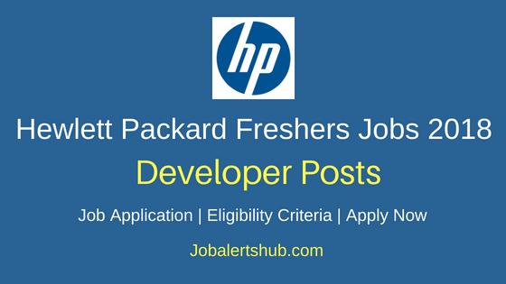 HP Developer Job Notification