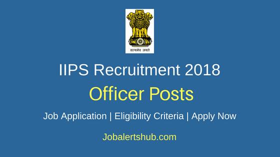International Institute for Population Sciences Officer Job Notification