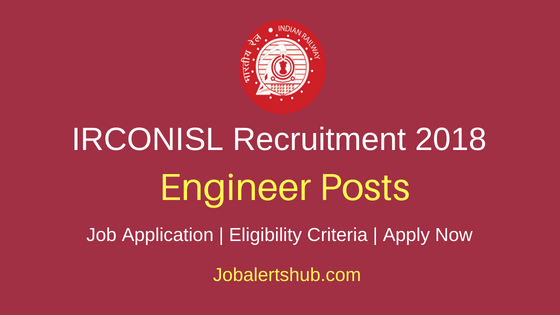 IRCONISL Enigneer Job Notification