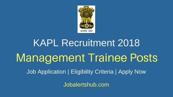 KAPL Management Trainee Job Notification