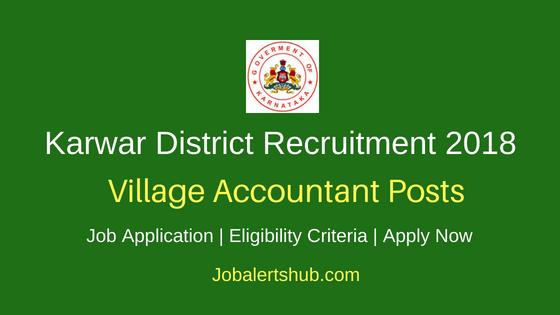 Karwar District Revenue Department Village Accountant Recruitment Notification
