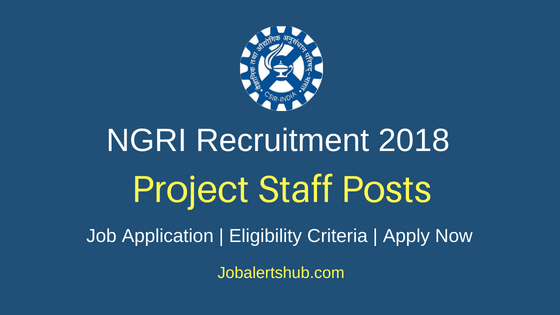 NGRI Project Staff Job Notification