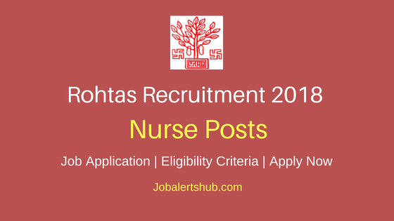 Rohtas District Nurse Job Notification