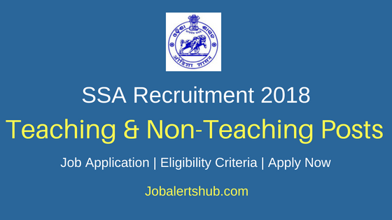 SSA Teaching And Non-Teaching Job Notification