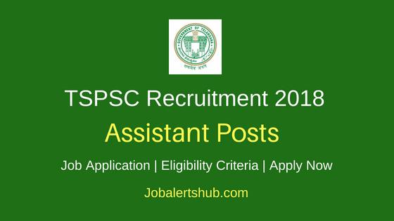 TSPSC Assistant Recruitment Notification
