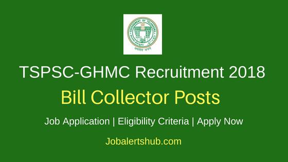 TSPSC GHMC Bill Collector Job Notification