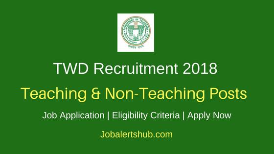 TWD Teaching & Non-Teaching Job Notification