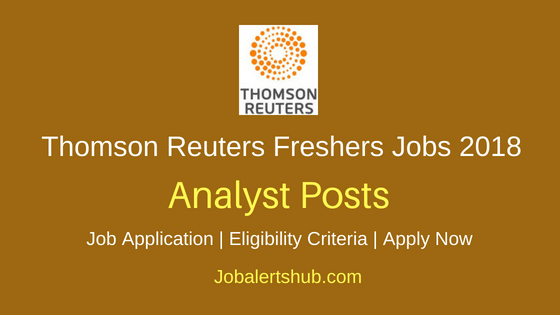 Thomson Reuters Analyst Job Notification